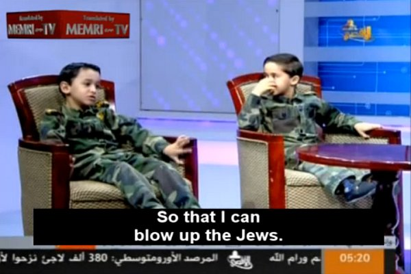 Telewizja Hamasu i chłopiec