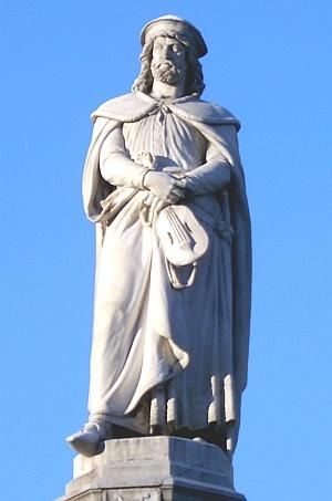 pomnik Walthera von Vogelweide w Bolzano