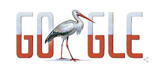bociany - logo google