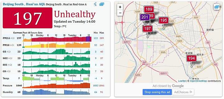 Pekin zanieczyszczenie powietrza